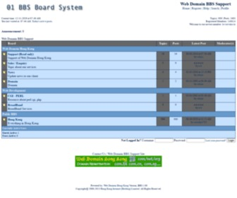01.com.hk - Web Domain BBS Support