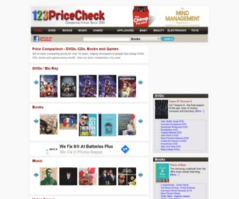 123pricecheck.com - > Cheap DVDs - Cheap Games - Cheap Books - Cheap CDs