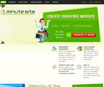 1minutesite.co.uk - Home - Create your personal and professional website in easy and quick steps - 1 Minute Site
