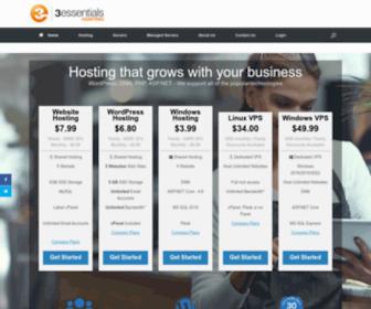 3essentials.com - 3essentials Hosting – ASP.NET | WordPress | Windows Hosting