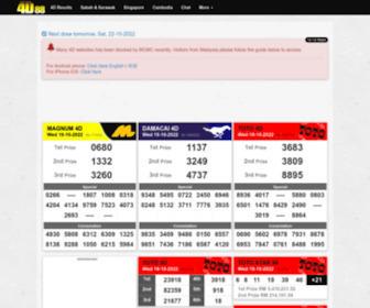 4d88.com - New 4D Results for Magnum 4D, Sports ToTo 4D Jackpot, DaMaCai 1+3D