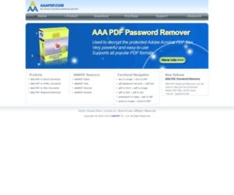 Aaapdf.com - Convert PDF to TEXT,PDF to WORD DOC RTF,PDF to HTML batch converter, conversion
