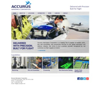 Accurusaero.com - Accurus Aerospace Corporation   is a leading Tier II supplier of metallic parts, kits and assemblies and processing services to the global aerospace and defense industry.