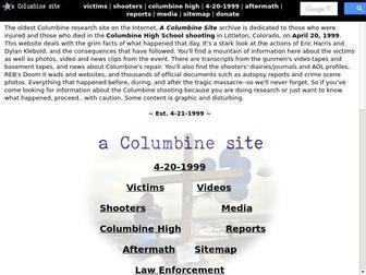 Acolumbinesite.com - ~(@)~ 4-20-99 a Columbine site ~(@)~ All about the Columbine High School shootings