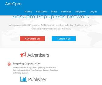 Adscpm.net - Adscpm Popunder Network