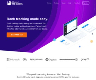 Advancedwebranking.com - AWR: World's longest standing rank tracking tool