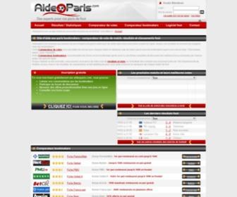 Aideoparis.com - La boite à outil du parieur : Pronostic, comparateur bookmaker, cote de match de foot - Aideoparis