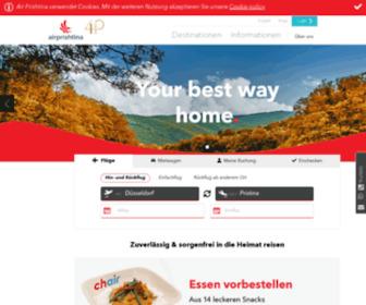 Airprishtina.com - Air Prishtina - Flüge von Europa in den Kosovo und nach Mazedonien