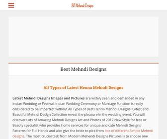Allmehandidesigns.com - 1000+ Latest Mehndi Designs Photos - Beautiful Henna Patterns
