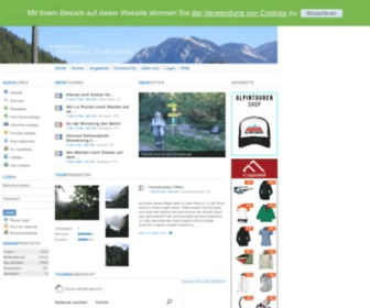 Alpintouren.com - Kostenloses Tourenportal mit GPS Daten, Google Earth, Fotos, Videos für Mountainbike, Wandern, Nordic Walking, Klettern, Skitouren, Snowboard, Rodeln auf ALPINTOUREN.COM