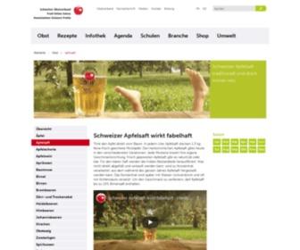 Apfelsaft.ch - Schweizer Apfelsaft - traditionell und doch immer neu | swissfruit