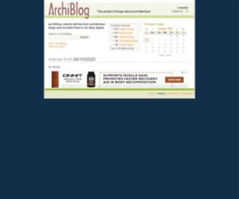 Archiblog.info - archiBlog - The portal of blogs about architecture