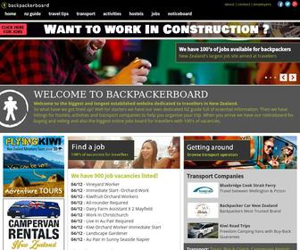 Backpackerboard.co.nz - Backpacking New Zealand Travel Guide, Backpacker Hostels, Jobs, Tours, Working Holiday