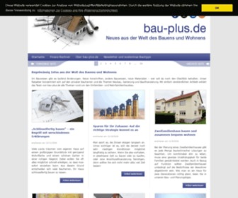 Bauen.info - Ratgeber Bauen und Wohnen | bau-plus.de