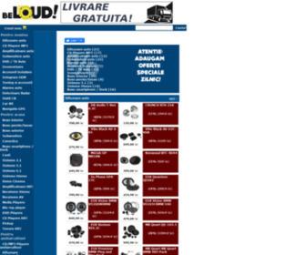 Be-loud.ro - Be loud! Din pasiune pentru sunet: magazin online casetofoane auto, cd playere auto, MP3 playere masina cu USB, difuzoare, subwoofere, amplificatoare, boxe, detectoare radar, alarme auto, senzori parcare, car audio si multimedia, sonorizare masini