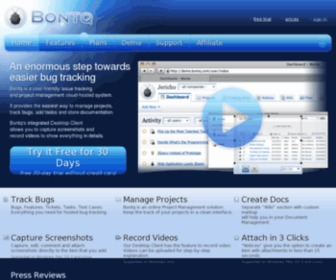 Bontq.com - Bug & Issue Tracking Software, Online Project Management, Subversion and GIT Repository Hosting