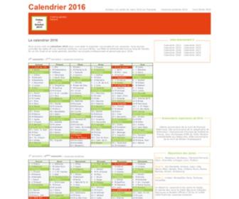 Calendrier-2016.net - Calendrier 2016 : vacances scolaires 2016 et jours fériés 2016