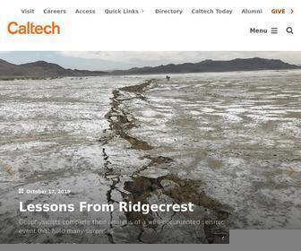 Caltech.edu - Home   Caltech
