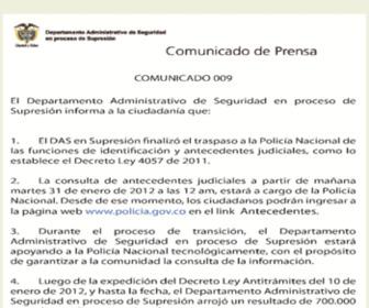 Certificadojudicial.gov.co - DAS de Colombia