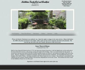 Charlestonbandb.net - Charleston SC Inn, Middleton Family Bed and Breakfast Our Property