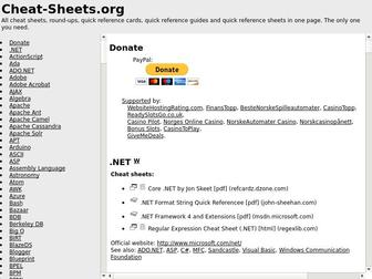 Cheat-sheets.org - Cheat Sheet : All Cheat Sheets in one page