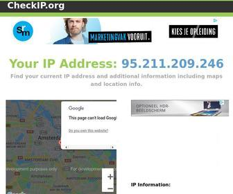 Checkip.org - Check and Map your Current IP address