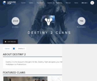 Clansofdestiny.com - Clans of Destiny - The Destiny Clan Portal