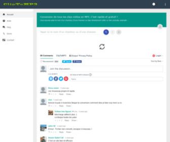 Cliptomp3.eu - CLIP TO MP3 : conversion de tous les clips vidéos du web en MP3
