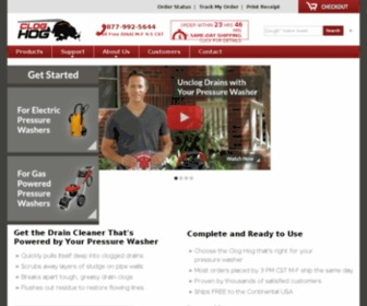 Cloghog.com - Clog Hog - Sewer Jetters - Drain Cleaners for Pressure Washers