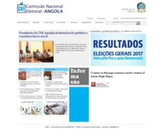 Cne.ao - Comissão Nacional Eleitoral de Angola