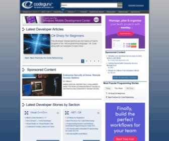 Codeguru.com - CodeGuru - Microsoft developers related ideas, articles, tips, tricks, comments, downloads, and so much more related to programming in areas including C++, Visual C++, C#, Visual Basic, .NET Framework, and more