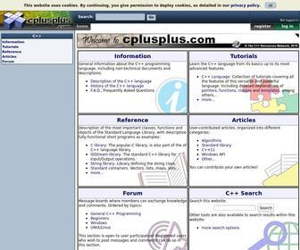 Cplusplus.com - cplusplus.com - The C++ Resources Network