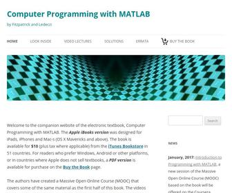 Cs103.net - Computer Programming with MATLAB | by Fitzpatrick and Ledeczi