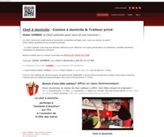 Domichef.fr - domichef.fr - Chef a domicile Didier HIMBER Chef cuisinier a domicile et traiteur Val de Marne(94) et Paris (75)