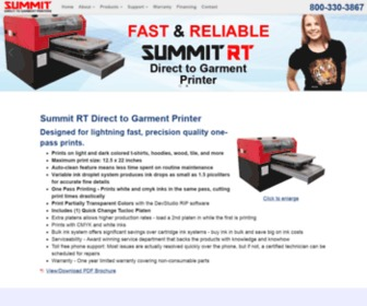 Dtgamerica.com - Summit AT - DTG (Direct to Garment) Printer