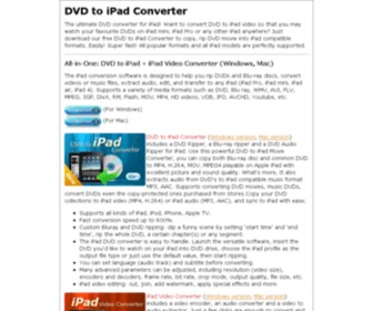 Dvdtoipadconverter.com - DVD to iPad Converter - Free DVD to iPad video converter ripper