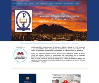 Ebam.org - Escuela Bíblica Arquidiocesana de Monterrey (EBAM)
