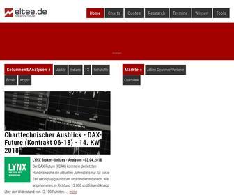 Eltee.de - Realtime Futures Trading Börsen-Informationen für Daytrader Rohstoffe Forex Broker Anleihen
