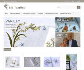 Eri-textiles.com - ERI Textiles - Unique ambience with exclusive embroidery motifs