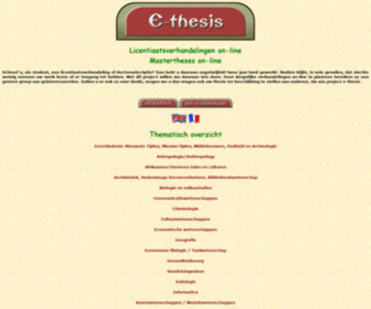 Ethesis.net - e-thesis, verhandelingen online, mastertheses on-line