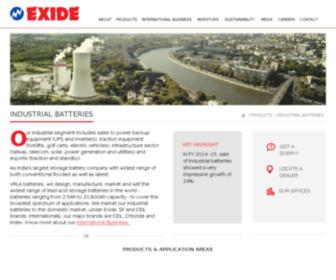 Exide4u.com - Industrial Batteries in India   Exide Industries Limited
