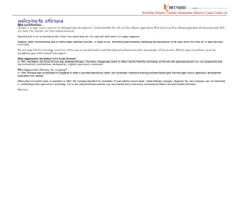 Extropia.com - eXtropia - the open web technology company