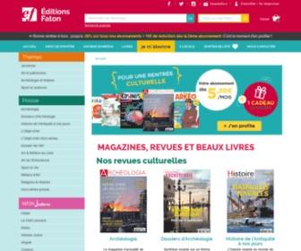 Faton.fr - Éditions Faton : Magazines revues et beaux livres. Art archéologie histoire sport sciences presse jeunesse