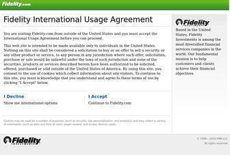 Fidelity.com - Fidelity International Usage Agreement