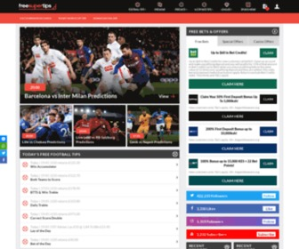 Freesupertips.co.uk - Free Sports Betting Tips & Free Bets, Football Predictions