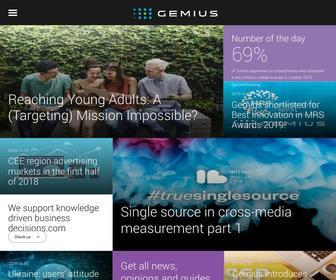 Gemius.com - Gemius - consultancy & expertise in the digital world - Gemius SA