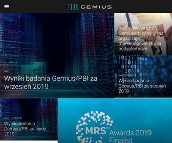 Gemius.pl - Gemius – Knowledge that supports business decisions
