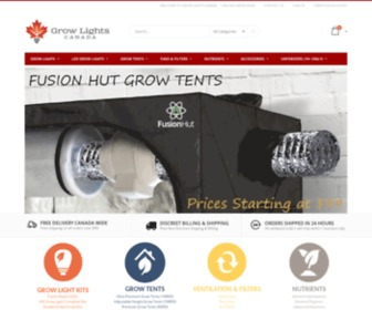 Growlights.ca - Grow Lights Canada. Canada's #1 source for Grow Lights / HID / LED / CFL / Induction / CMH Lights and Hydroponic Equipment