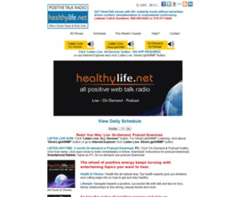Healthylife.net - HealthyLife.Net All Positive Talk Radio Home