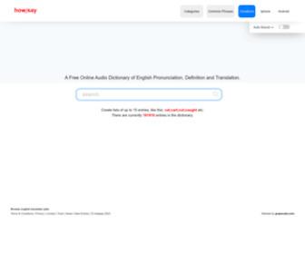 Howjsay.com - A Free Online Talking Pronunciation Dictionary | Howjsay